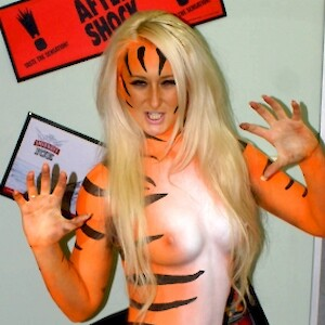 body painted model hire uk