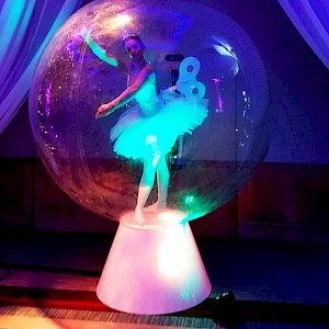 real life snowglobe statue hire uk