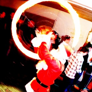 christmas fire show hire uk