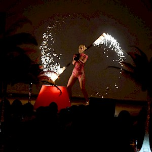 fire themed entertainment performer