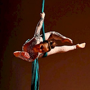 cirque du soleil themed aerial show hire uk