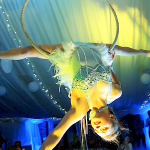 cirque du soleil themed performers hire uk