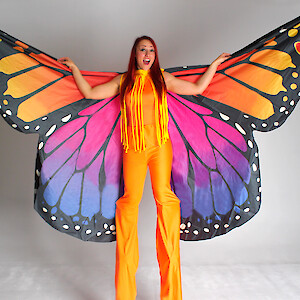 Butterfly stilt walkers UK