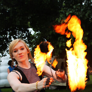 summer fire show hire uk