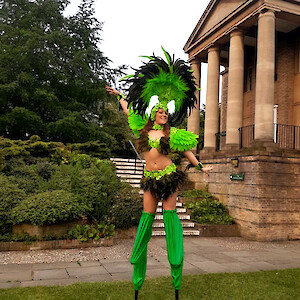 samba stilt walker hire uk