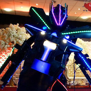 asian wedding LED robot hire uk