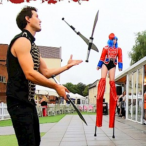 london knife juggler hire