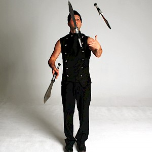knife juggling show hire uk