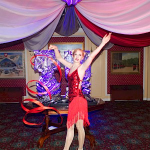 Great Gatsby ribbon dancer hire