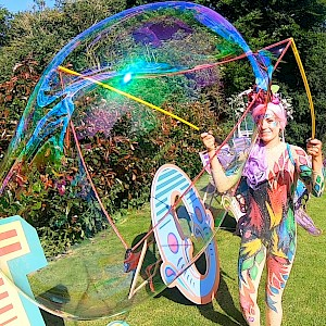 hire manchester bubble performers